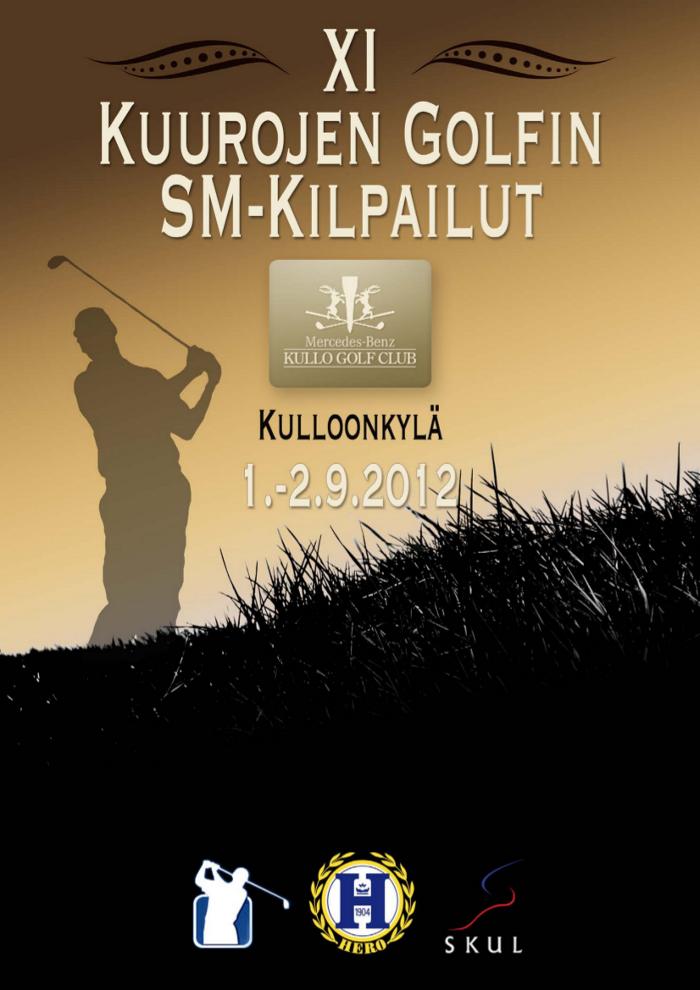 Kuurojen Golfin SM-kilpailut Kulloonkylässä 1.-2.9.2012