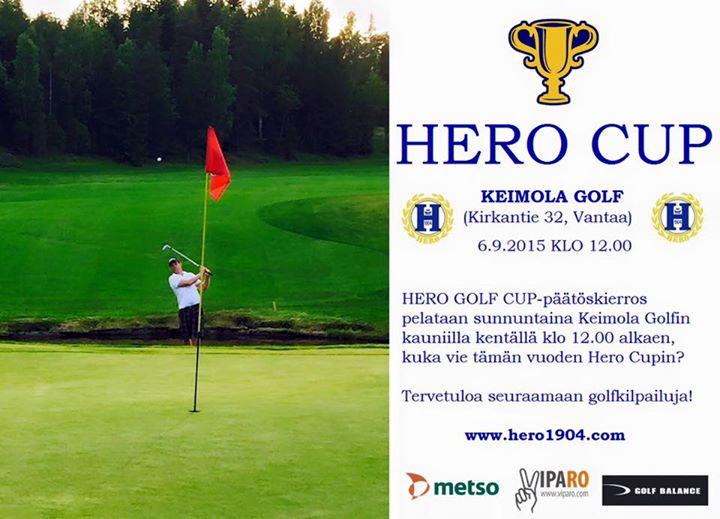HERO GOLF CUP päätöskierros sunnuntaina 6.9.2015