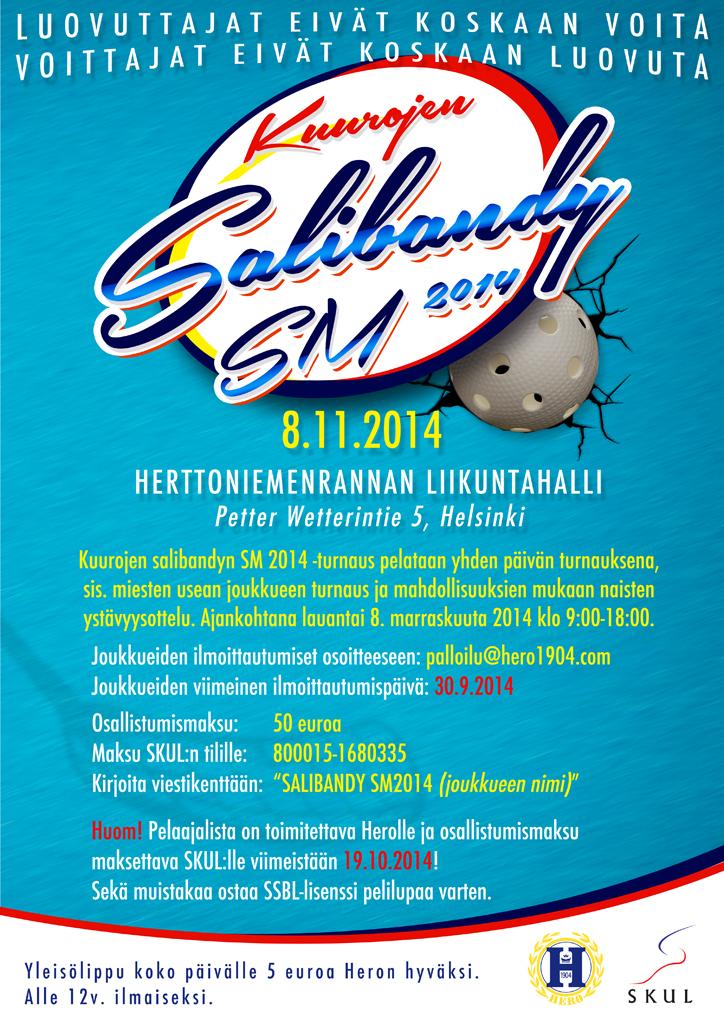 Kuurojen salibandyn SM-turnaus Herttoniemenrannan liikuntahallissa 8.11.2014