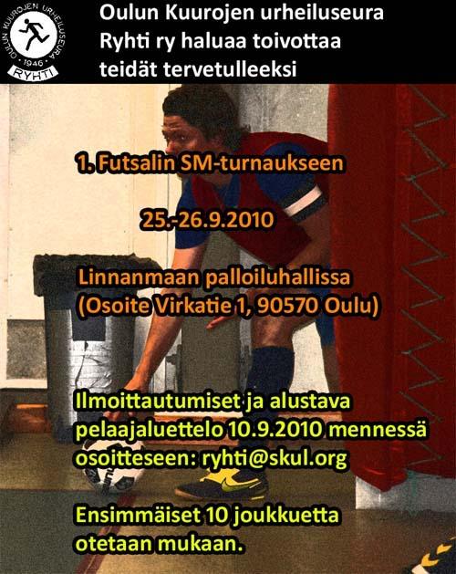 Ensimmäinen kuurojen futsalin SM-turnaus Oulussa!