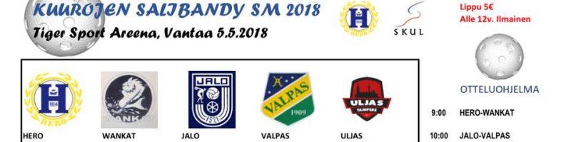 SM SALIBANDY 2018 otteluohjelma & pelaajat